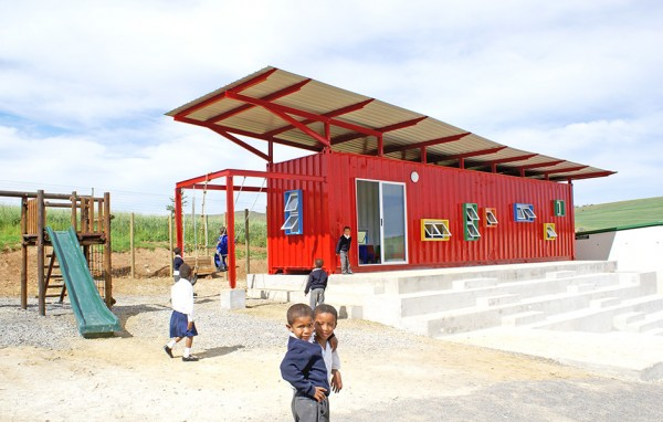Converted shipping containers help educate underprivileged children in south africa gvct - Container homes cape town ...