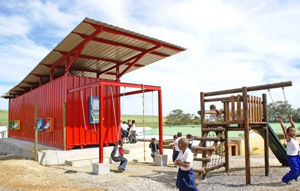 Converted Shipping Containers Help Educate Underprivileged